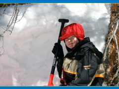 Dig a snowcave on a family snowshoe adventure