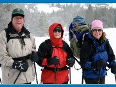 Snowshoeing spans many generations