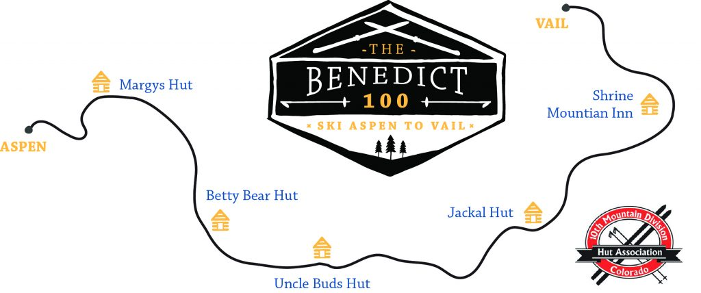 The Benedict 100 map