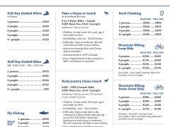 Summer 2020 Price Sheet